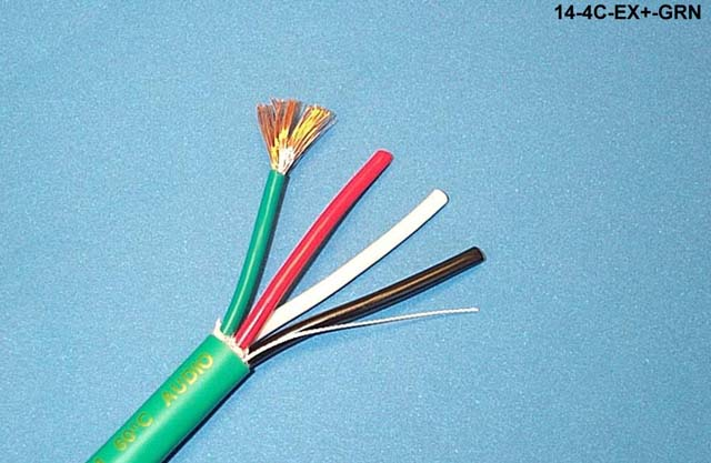 Liberty 14-4C-EX+-PNK Extraflex 14/4C OFC CL3 Speaker Cable, Pink