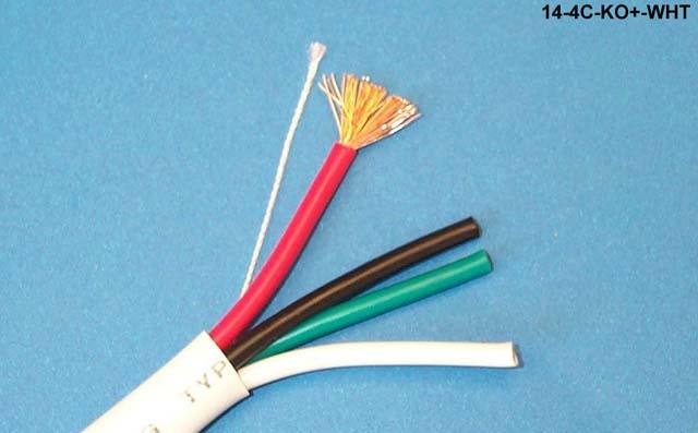 Liberty 14-4C-KO+-WHT 14/4 CL3 Knockout Speaker Cable, White
