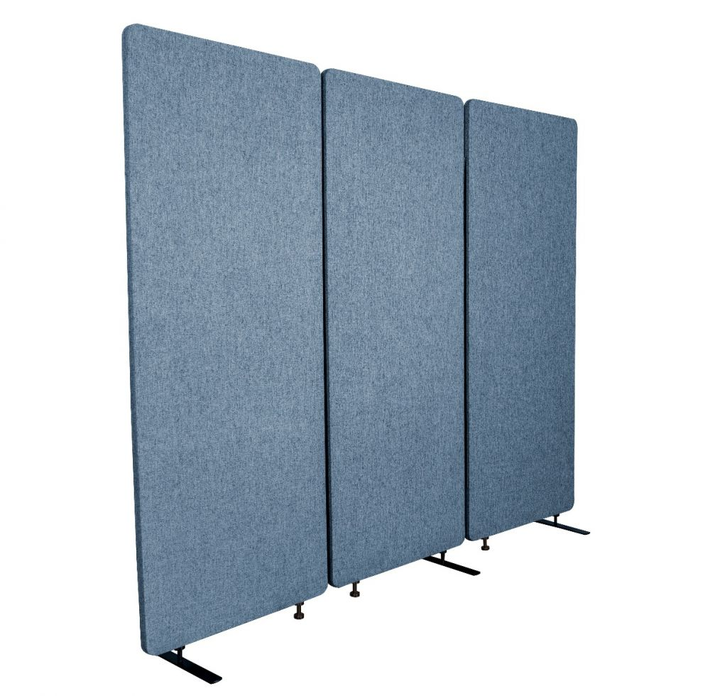 Luxor RECLAIM Acoustic Room Dividers - 3 Pack in Pacific Blue