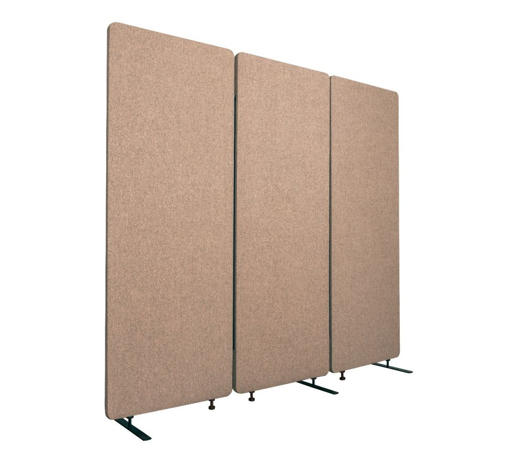 Luxor RCLM7266ZDS RECLAIM Acoustic Room Dividers - 3 Pack in Desert Sand