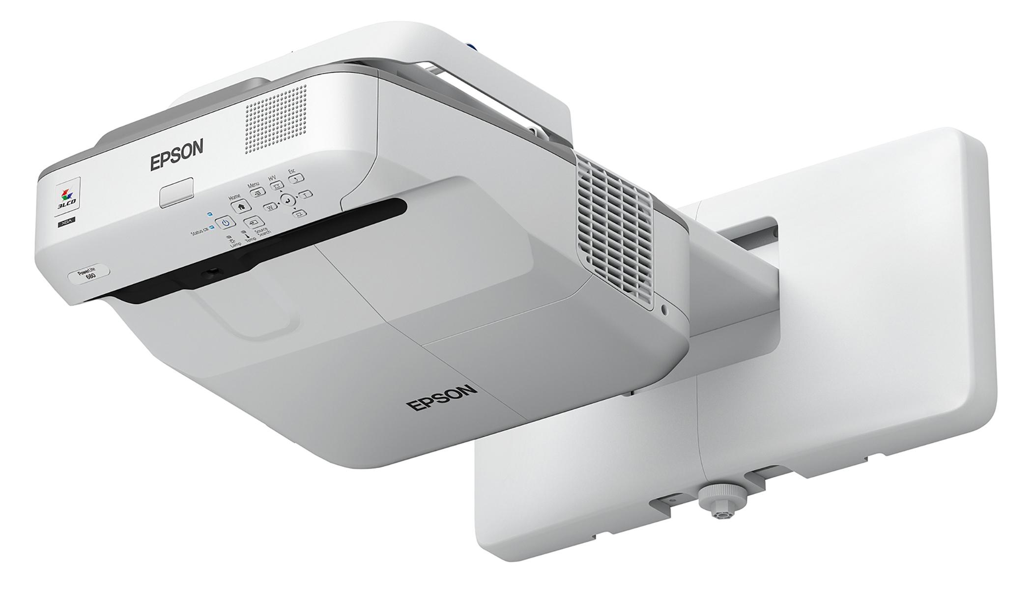 EPSON PowerLite 680 3500lm XGA Ultra Short-Throw Projector, Refurbished