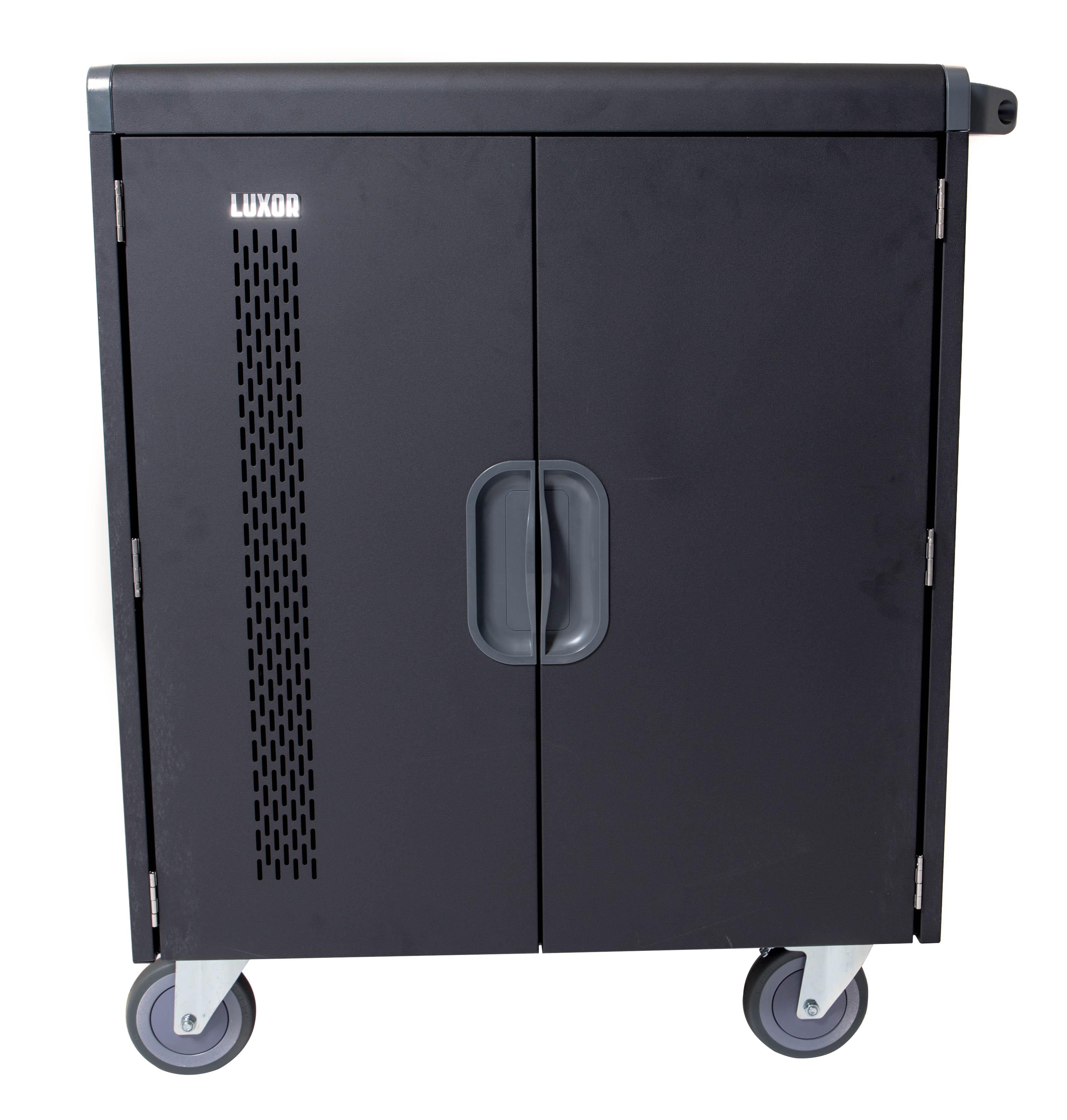 Luxor LLTS32-B 32 Tablet Charging Cart, Black