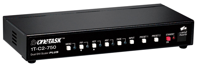 tvOne 1T-C2-750 Dual PIP DVI-I Scaler with Key, Mix & Seamless Switching