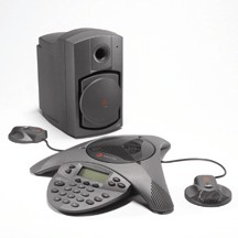 Polycom SoundStation VTX 1000 with External Mics and Subwoofer