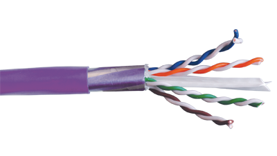 Liberty 24-4P-L6SH-VIO CAT6 Shielded Twisted Pair Eithernet Cable, Violet