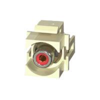 C2G 28742 Snap-In Red RCA F/F Keystone Insert Module - Ivory