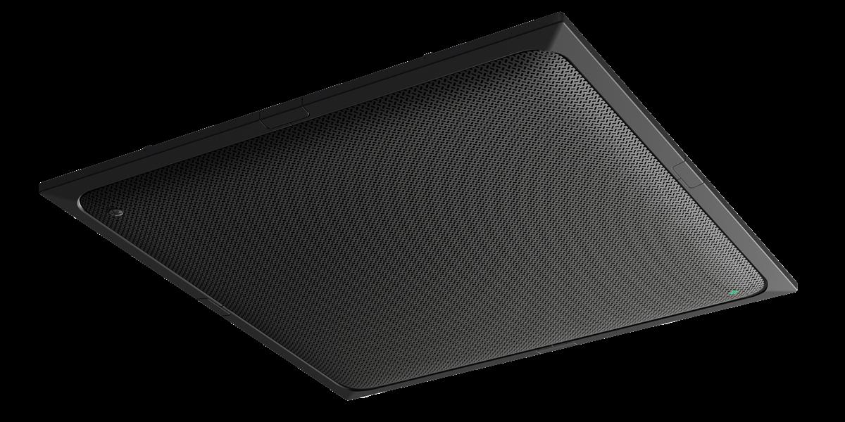 Yamaha UC ADECIA Ceiling Mic, Black, Processor, Switch, & 2x Speakers, Black