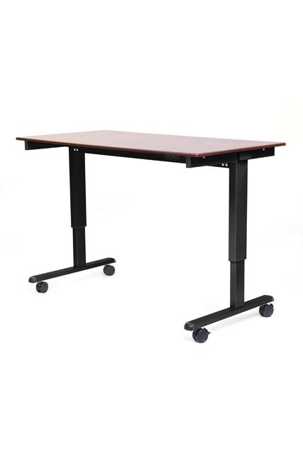 Luxor STANDE-60-BK/DW STANDE-60 60in. Electric Standing Desk Black/Walnut