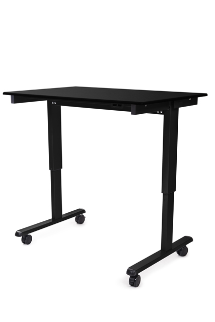 Luxor STANDE-48-BK/BO STANDE-48 48in. Electric Standing Desk Black/Black