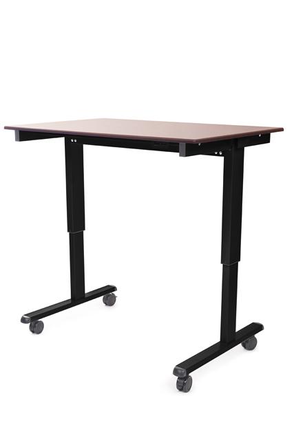 Luxor STANDE-48-BK/DW STANDE-48 48in. Electric Standing Desk Black/Walnut