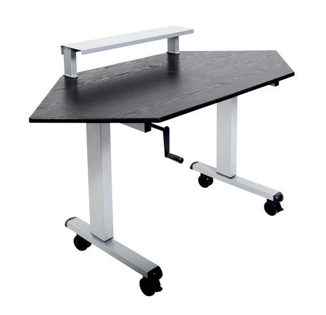 Luxor STANDUP-CCF60-B 60in. Stand Up Corner Desk
