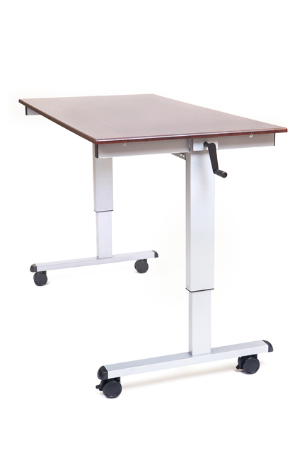 Luxor Standup-CF60-DW Standup-CF60-DW 60in. Crank Adjustable Stand Up Desk