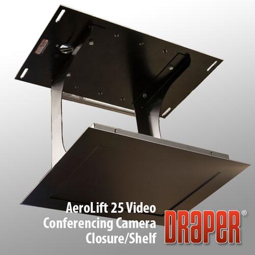 Draper AeroLift 35 Video Conferencing Camera Closure/Shelf, 110 V (Black)