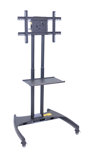 Luxor FP2500 Adjustable Height LCD TV Stand and Mount with Accessory Shelf