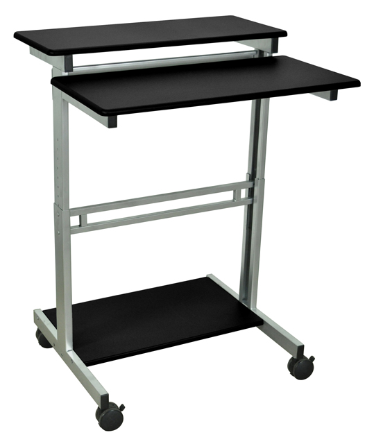 Luxor Standup-31.5-B Stand Up Workstation - Black