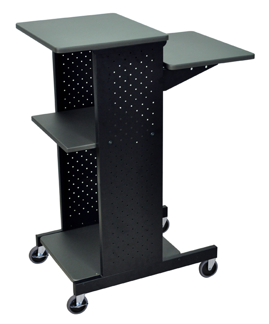 Luxor PS4000 Gray 4 Shelf Mobile Presentation Station