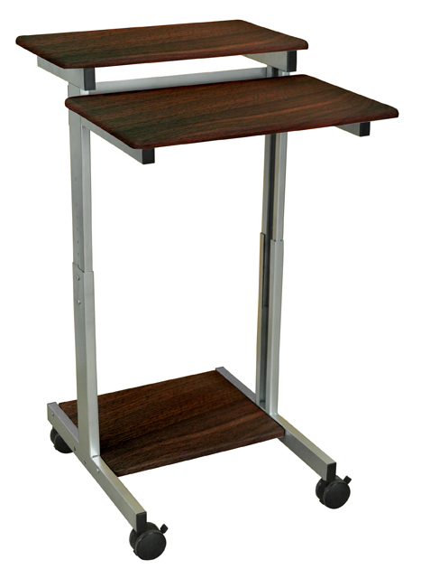 Luxor Standup-24-DW Stand Up Presentation Station - Walnut