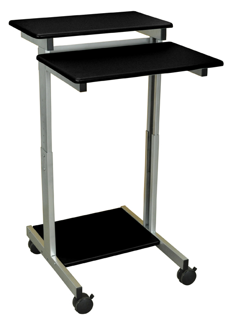 Luxor Standup-24-B Stand Up Presentation Station - Black