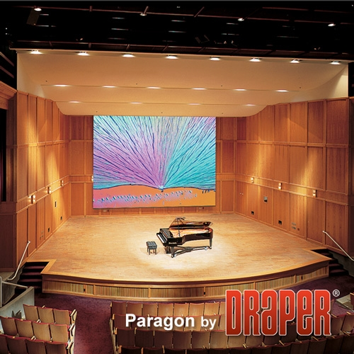 Draper 114099 Paragon/E Motorized Projection Screen 19ft 6in x 26ft