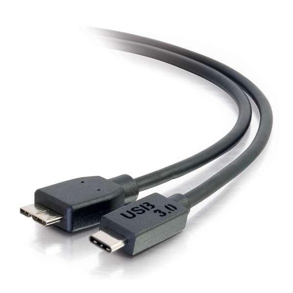 C2G 6ft USB 3.0 (USB 3.1 Gen 1) USB-C To USB Micro-B Cable M/M - Black