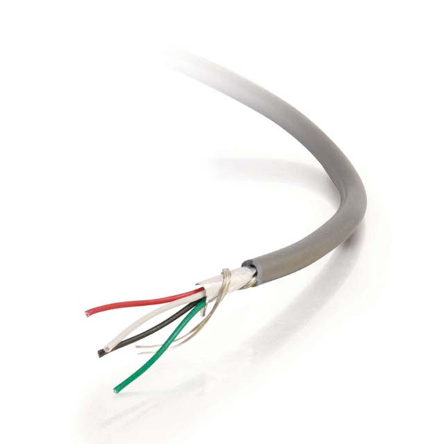 C2G 32270 1000ft 24 AWG 4-Conductor Foil Shield PVC Bulk Cable