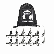 Hamilton SOP-HA1A Sack-O-Phones, 10 Personal Headsets