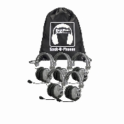 Hamilton SOP-HA7M Sack-O-Phones, 5 Deluxe Headphones, Mic in a carry bag