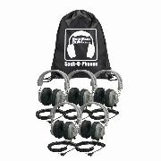 Hamilton SOP-SC7V Sack-O-Phones, 5 Deluxe Headphones, volume ctrl, carry bag