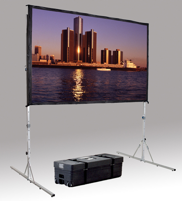 Da-Lite 38305 Fast-Fold Deluxe 69x108 with Legs and Case