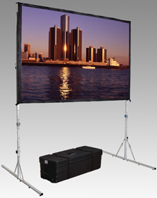 Da-Lite 38315 Fast-Fold Deluxe Dual Vision Projection Screen (92 x 144 in.)