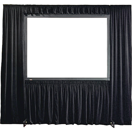 Draper 384006 StageScreen Dress Kit w/ Case - I.F.R, 162in x 216in