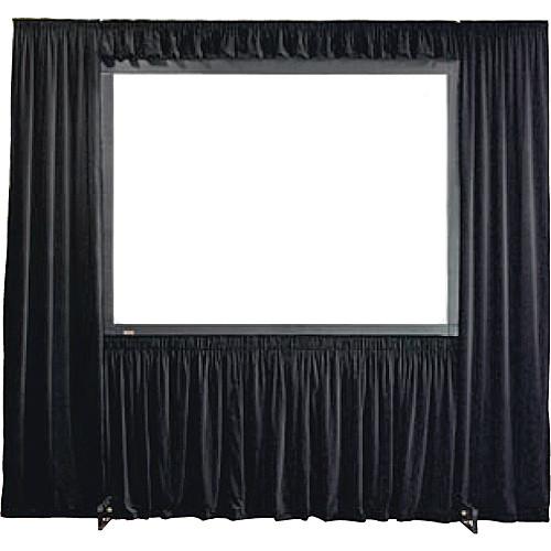 Draper 384014 StageScreen Dress Kit w/ Case - I.F.R, 121.5in x 216in