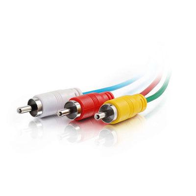 C2G 40526 50ft Composite Video, Stereo Audio Cable, Low Profile Connectors