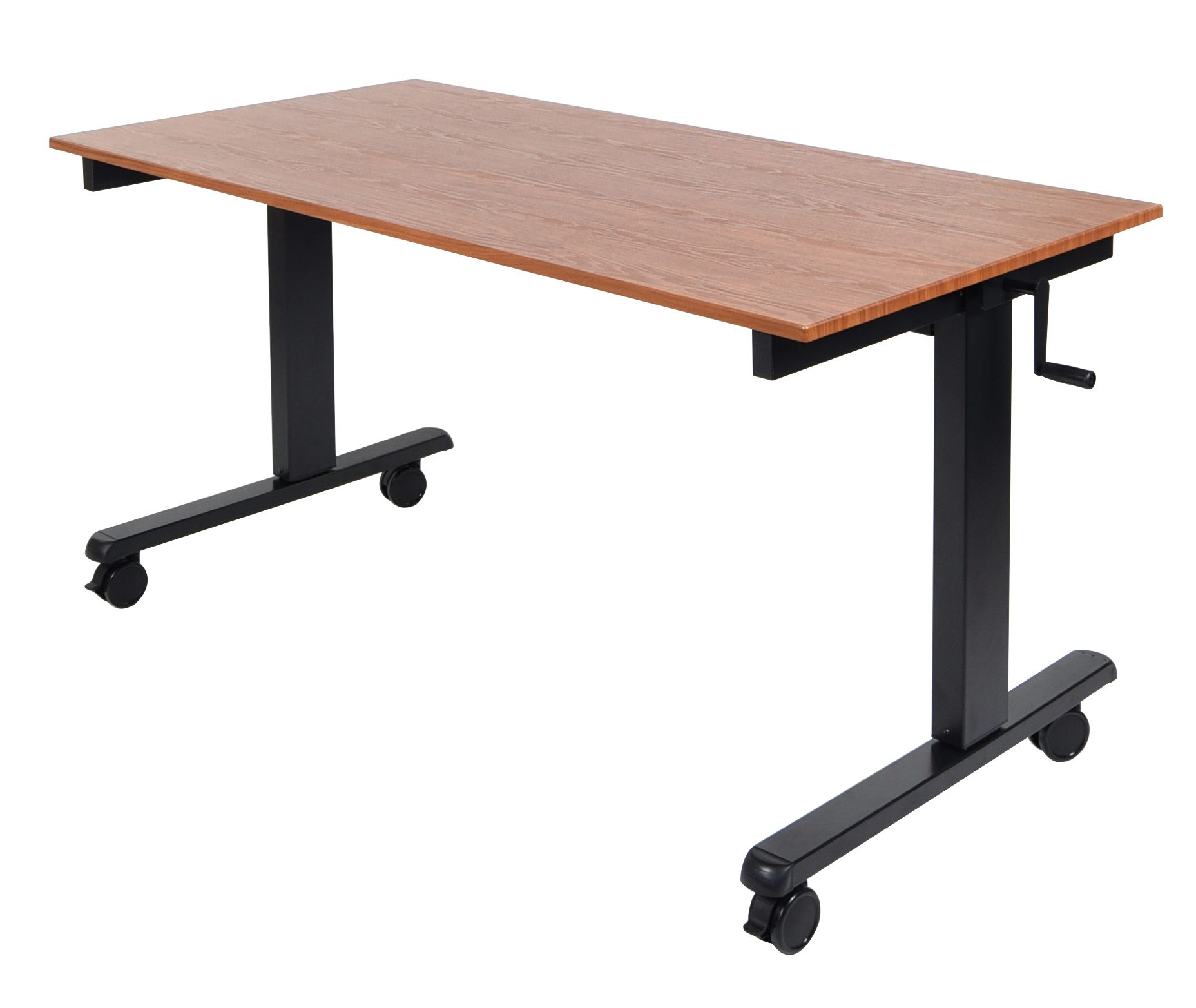 Luxor STANDCF60-BK/TK 48in. Crank Adjustable Stand Up Desk
