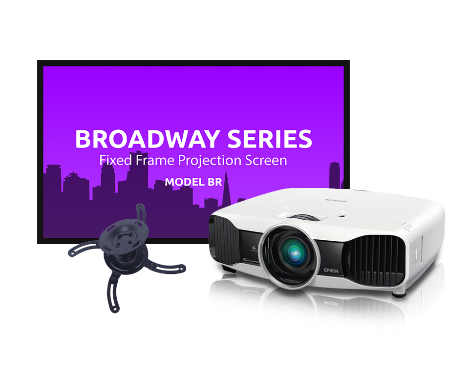 Home Theater Bundle - Epson Home Cinema 5030UB Projector, Refurbished, with Screen and Ceiling Mount
