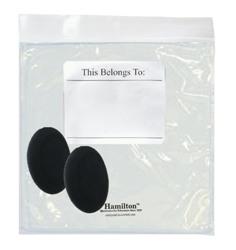 Hamilton 5076 Replacement Ear Cushions & Resealable Bag for HA2 & HA2V