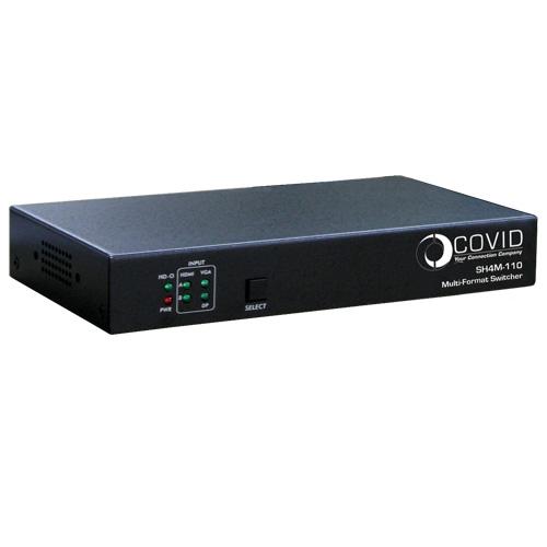 Covid SH4M-110 Multi-Format Switcher, VGA/DP/2 x HDMI, HDMI Out