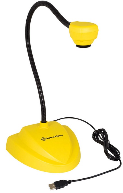 Ken-A-Vision 7880YL Vision Viewer Document Camera w/ Auto Focus (Yellow)