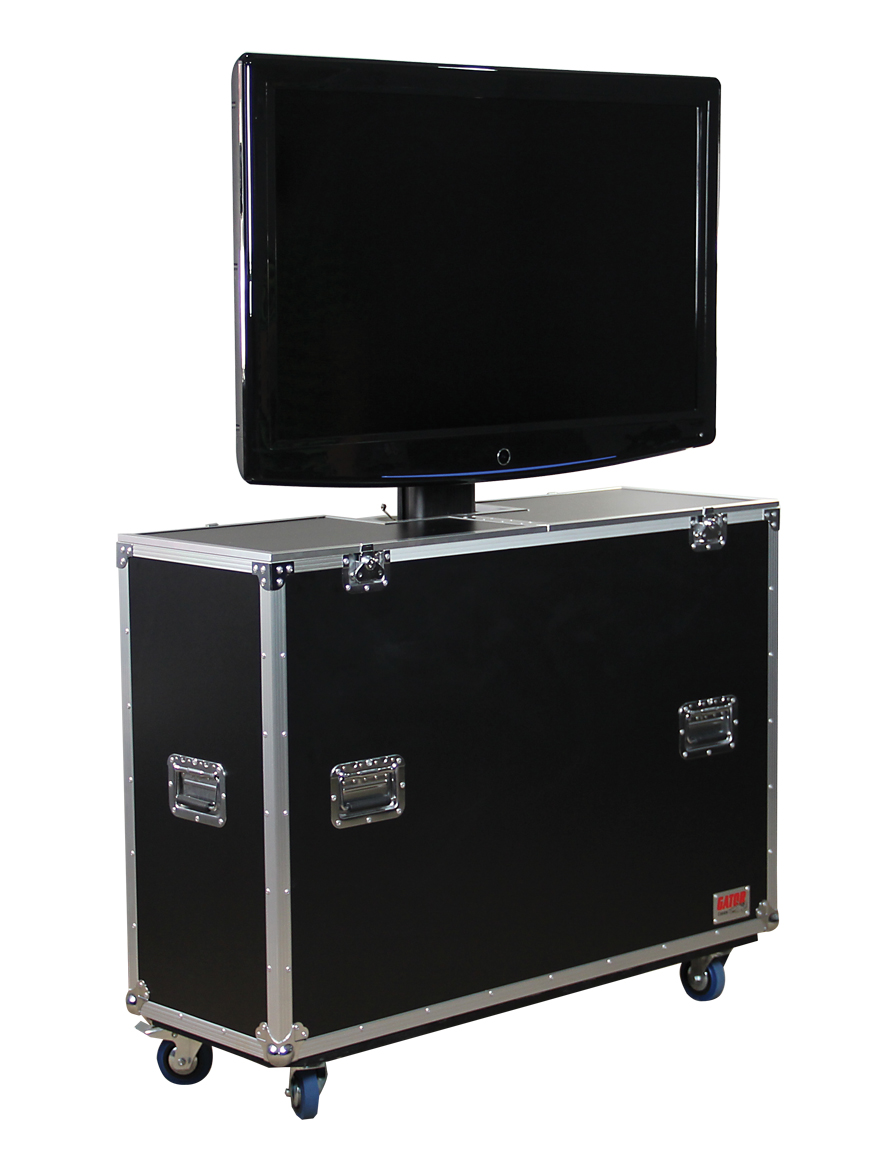 Gator G-TOUR ELIFT 55 ATA Wood 55in. Flight Case Electric LCD Lift & Casters