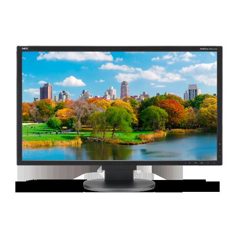 NEC EA223WM-BK 22in. LED Desktop Monitor w/ Adjustable Stand, Refurbished