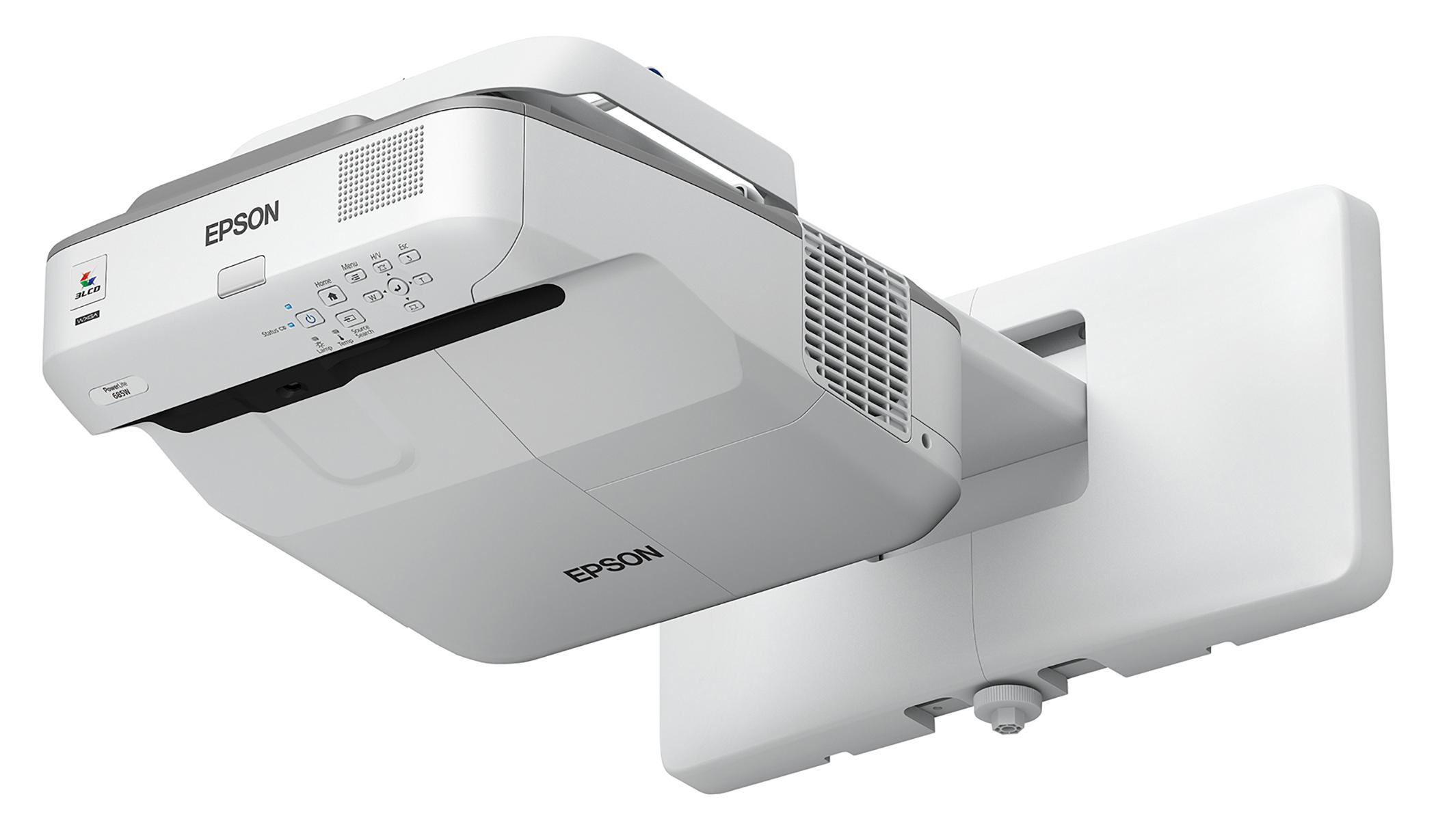 EPSON PowerLite 685W 3500lm WXGA Ultra Short-Throw Projector, Refurbished