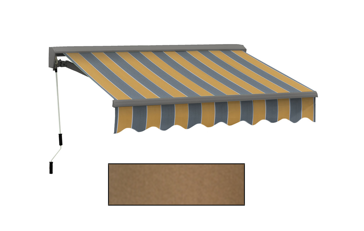 Advaning 10x8ft. C Series Manual Awning, Canvas Umber