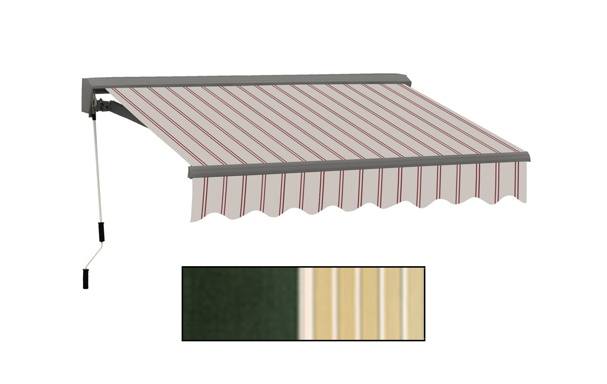 Advaning 10x8ft. C Series Electric Awning, Forest Green w/ Cream Stripes