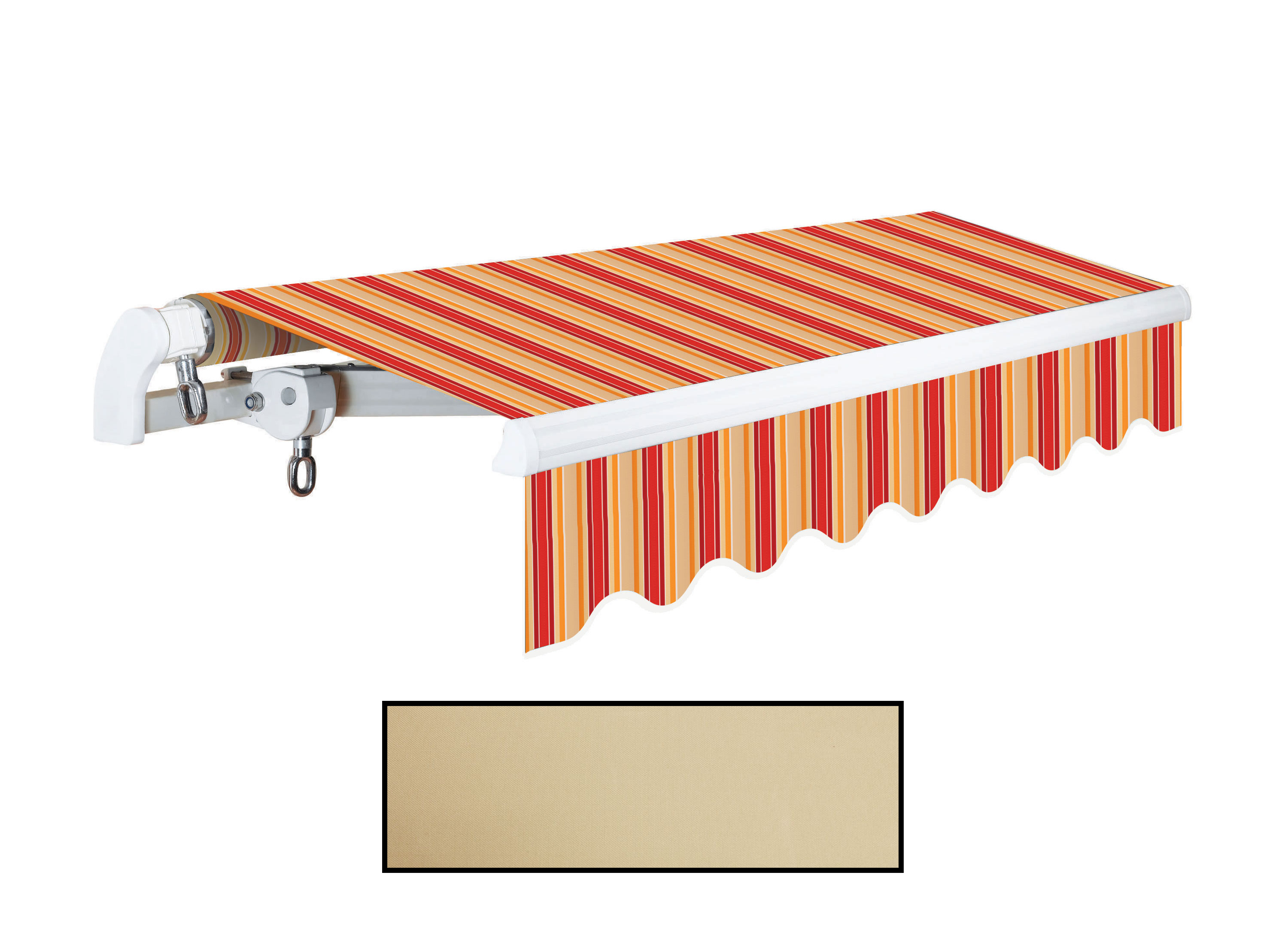 Advaning 10x8ft. S Series Manual Awning, Linen Beige
