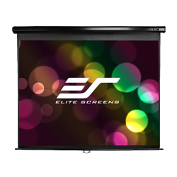 Elite M84UWH-E30 84in 16:9 Manual Screen, MaxWhite, Black Case, 30in Drop