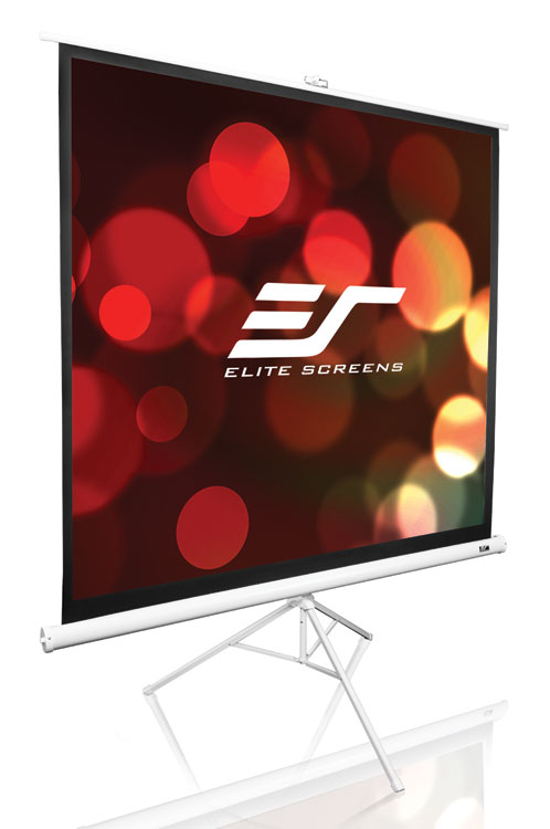 Elite T99NWS1 99in 1:1 Tripod Portable Screen, MaxWhite, White Case