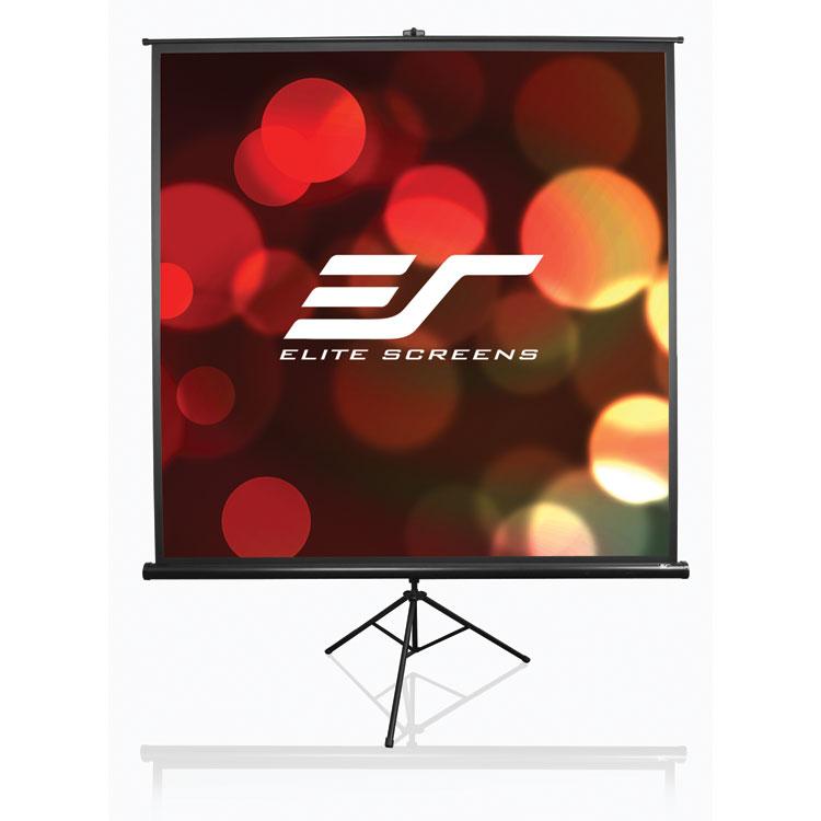 Elite T136UWS1 136in 1:1 Tripod Portable Screen, MaxWhite, Black Case