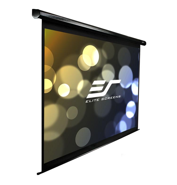 Elite VMAX120UWH2 120in 16:9 VMAX2 Electric Screen, MaxWhite, Black Case