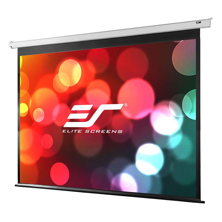 Elite VMAX120XWH2 120in 16:9 VMAX2 Electric Screen, MaxWhite, White Case