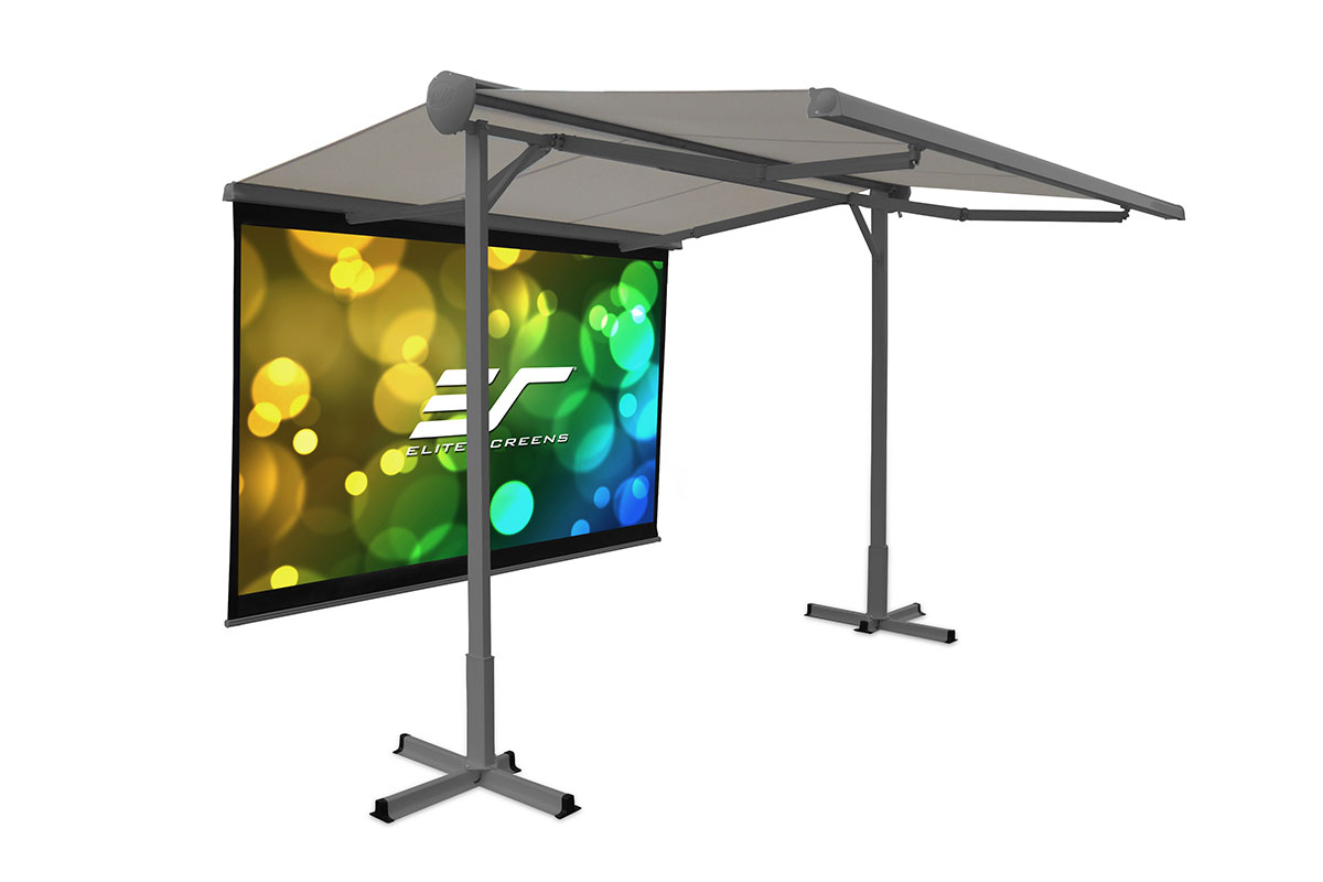Elite OMA1110-116H 116in 16:9 Yard Master Awning Portable Screen, MaxWhite
